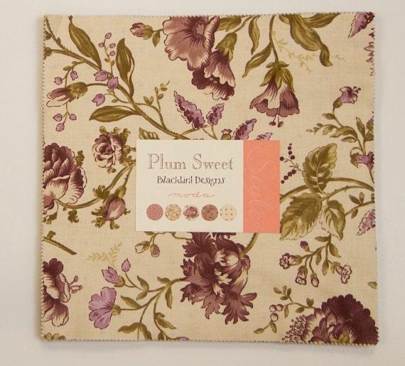 Plum Sweet Layer Cake By Blackbird Designs For Moda Fabrics