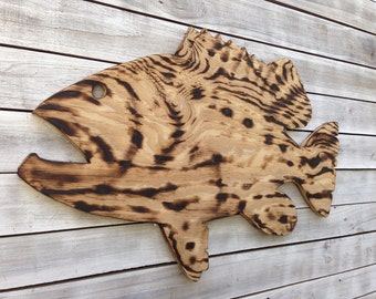 Wooden Fish Wall Art wood fish | etsy