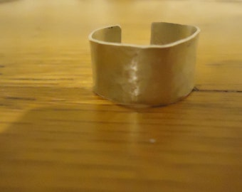 Sterling Silver Pounded Ring