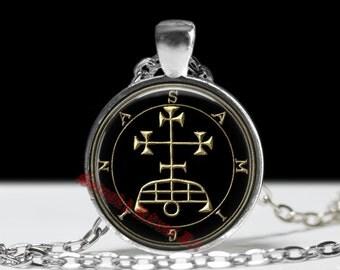4 SAMIGINA pendant, Goetia sigil necklace, Lemegeton jewelry, The Lesser Key, Solomon, occult jewelry, summoning demons amulet, ritual 104