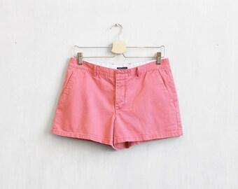 Vintage pink shorts / 90s low waist shorts /  Short pink shorts