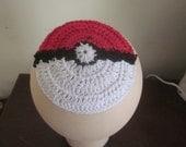 Pokeball kippah, pokeball yarmulke, a geeky yarmulke