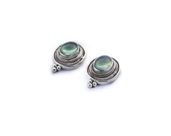 earrings opal sterling silver