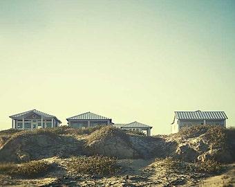 Beach photography, beach decor, beach house decor, travel photography, blue, sunset, summer decor, beach, blue skies, landscape photography