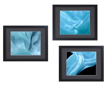 Blue Abstract Photography Sets - Underwater Art - Underwater Abstract Photography - Blue Wall Art