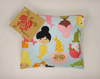 Mermaid Reusable Snack Bag, Sandwich Bag, Girls Snack Bag, Reusable Sandwich Bag, Travel Bag, Pacifier Pouch, Pet Treat Pouch