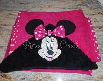 Minnie Mouse Hooded Towel FREE MONOGRAM