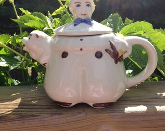 Tom the Pipers Son Teapot Vintage
