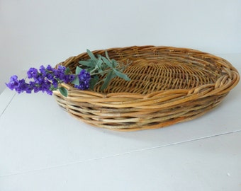 Vintage French Hand Crafted Wicker Basket