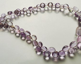 Natural Gem 115 Carets 10 Inch  Beautiful,Superb,Finest Quality,Pink Amethyst Smooth Onion Shape Briolettes, 5 To 11 MM size
