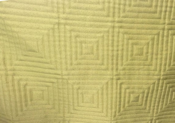 Home Decor Fabrics By The Yard: FABRIC SALE!!! Yellow/Green Quilted Diamond Upholstery
