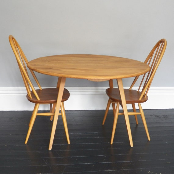 Ercol Table And 4 Dining Chairs
