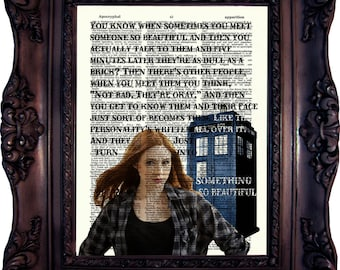 Dr Who Print AMY POND Quote Karen Gillan Dr Who You know when sometimes 11.doctor Dr Who Quote Print Eleventh doctor Matt Smith Rory C:631