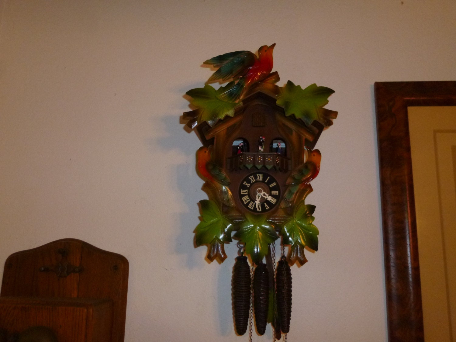 Vintage 1960 39 S Colorful Carousel Musical Cuckoo Clock