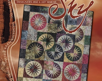 Desert Sky Quilt Pattern And Foundation Papers by Judy Niemeyer Quiltworx