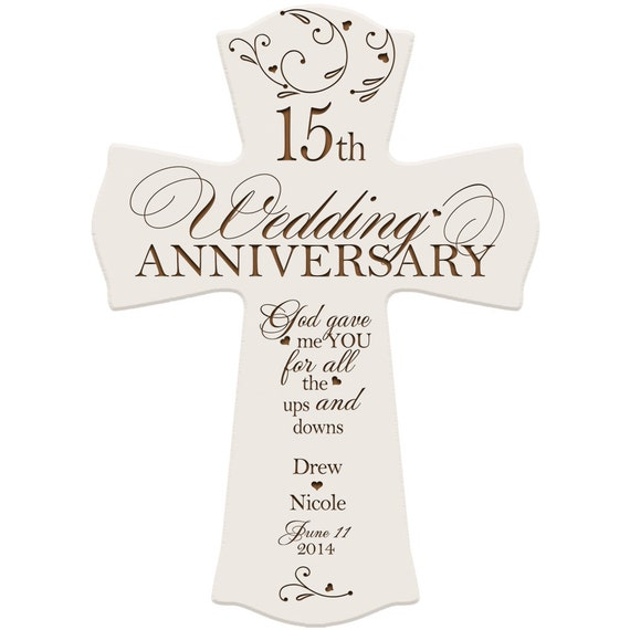 Personalized 15th Anniversary Gift for couple 15th wedding anniversary ...