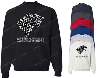 Winter Is Coming Crewneck Game Of Thrones Sweatshirts