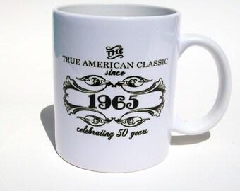 Fiftieth Birthday Coffee Mug, Birthday Coffee Mug Customizable For Any Year
