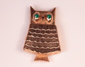 Avon Owl Perfume Brooch