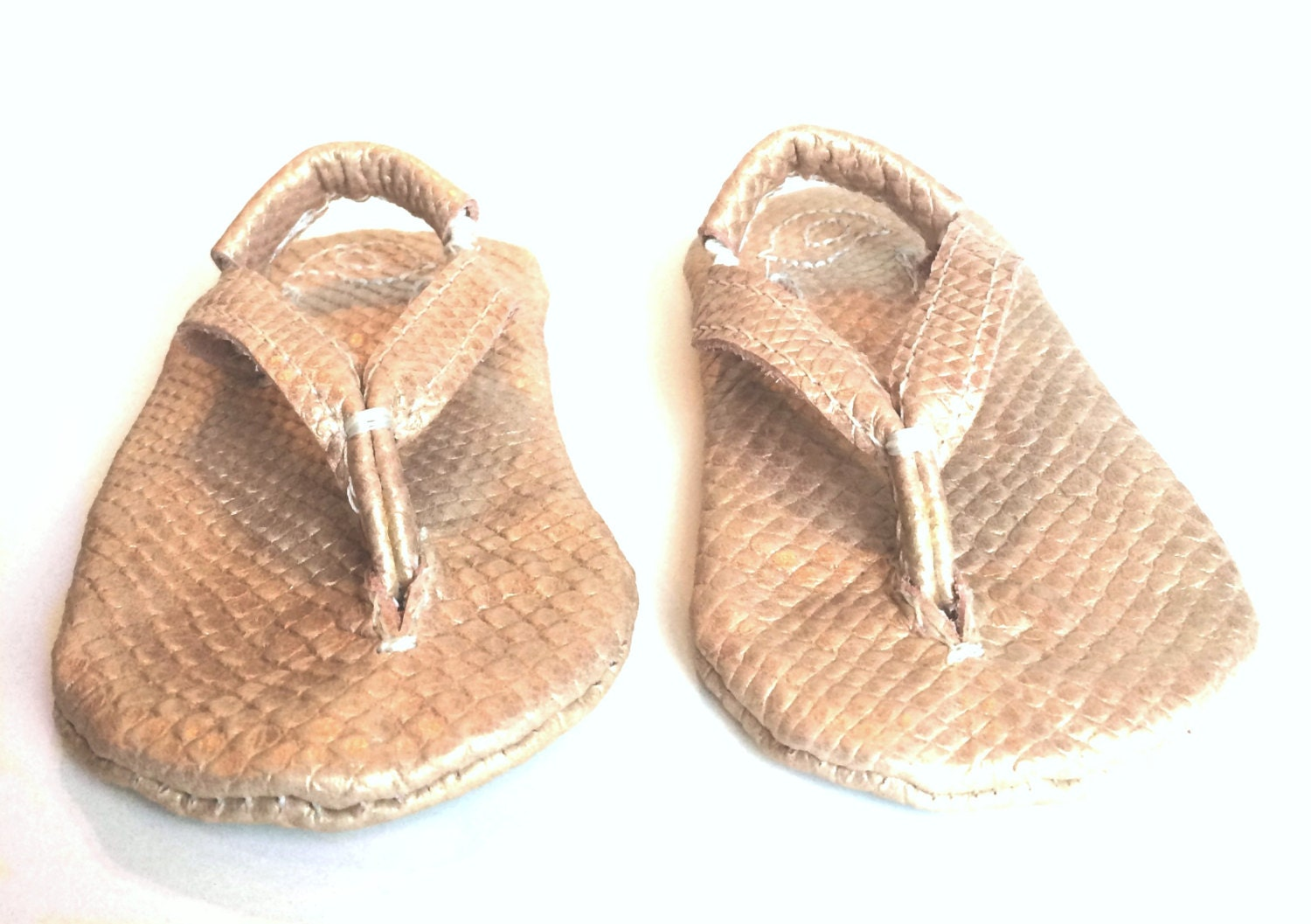 Rose Gold Snake Skin Soft Sole Baby Shoes and by