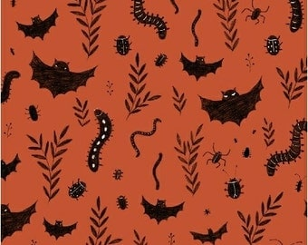 Mischief Night, Bats and Bugs Halloween Fabric from by Dinara Mirtalipova from Windham Fabrics, Trick or Treaters
