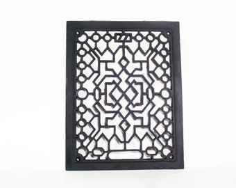 Eastlake Grate, Cast Iron, 1800s, Architectural Salvage, Decorative Accent, Antique, Heating