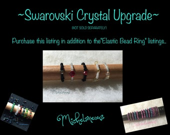 Swarovski Crystal Upgrade for Elastic Bead Ring and Toe Ring by Michelaneous