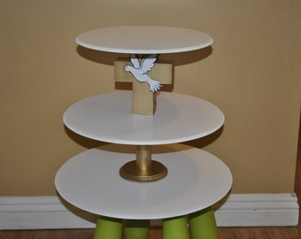 Baptisim, Confirmation, Christening, First Communion, Religious  Cupcake And Cake Stand