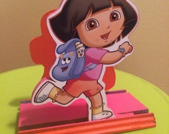 Dora the Explorer Napkin Holder, Dora Centerpiece