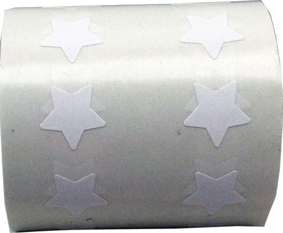 White Star Stickers Stars Stickers Measure At A Tiny