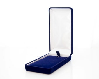 Blue casket, perfect and exclusive box, package for jewelry, high quality and lasting
