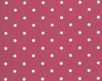 XLN Essentials White Dots on Dark Pink Small (Half metre)