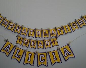 """LSU """"Congratulations Grad"""" Banner"""