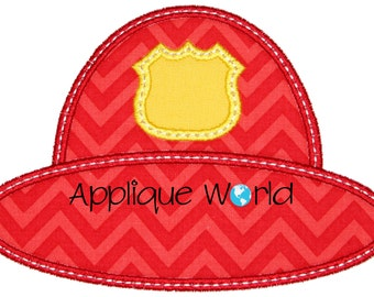 Fireman Hat 1 Applique Embroidery