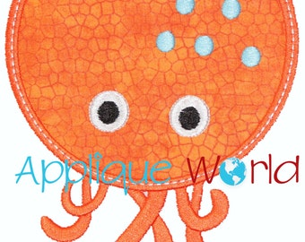 Octopus Applique Embroidery