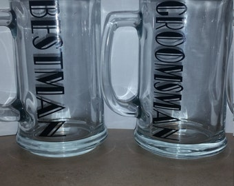 Wedding party Beer mugs (Groomsmen)