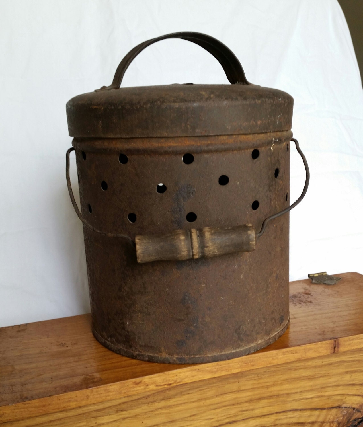 Vintage metal bucket by midwestartifacts on etsy for Old metal buckets