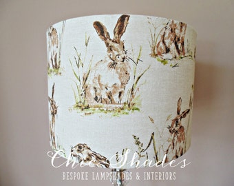 Country Hares Fabric Lampshade