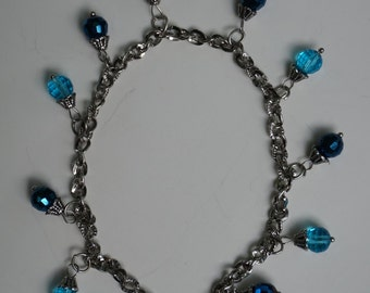 catchy blue anklet