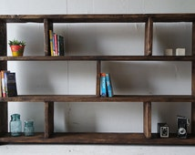 Rustic Bookcase Shelving Unit 100% Reclaimed Wood, Eco, Any Size, FREE DELIVERY