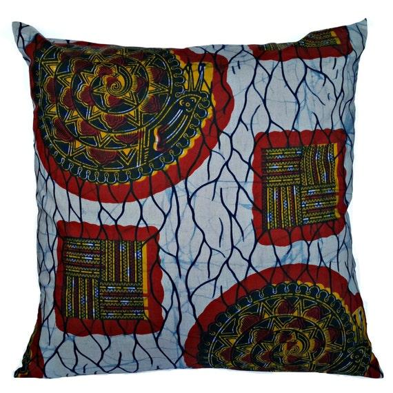 Xl Floor Pillows : Items similar to SALEAfrican Dutch Wax Ankara Fabric XL Floor Pillow Cover Blue Yellow Red ...
