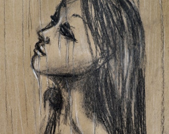 Energy Flowing, Tears, Crying, Portrait, Art Print