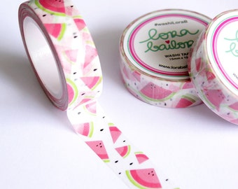 Washi tape watermelon 15mm x 10m