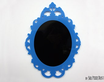 Modern Rococo Blue Photo Frame - Oval Baroque Picture Frame