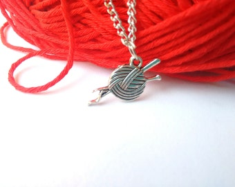 Ball of wool necklace charm
