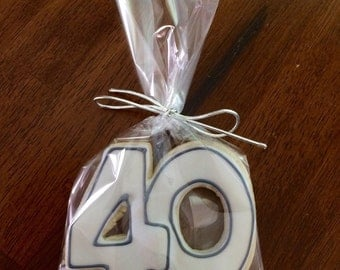 "Elegant ""40"" Cookies - perfect party cookies!"