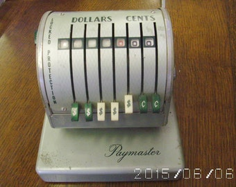 Vintage Paymaster Series X-550 Seven Column Check Writer