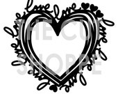 The Love All Around is a heart shaped background, that can be used on your scrapbooking and papercrafting projects.