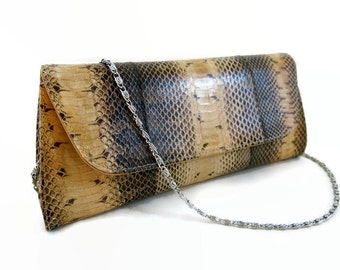 Grey leather clutch purse - leather clutch - leather purse - women purse - women clutch - clutch purse - evening clutch - evening purse