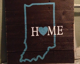 Indiana Home sign